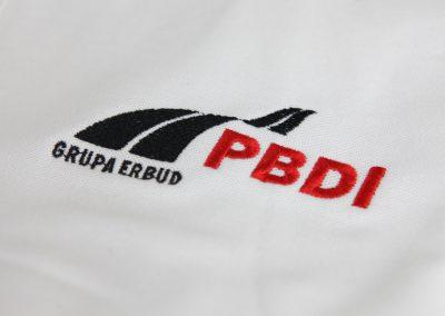 haft komputerowy koszulka polo z logo pbdi, haftowria haft komputerowy poznan, warszawa, torun, wroclaw, katowice,