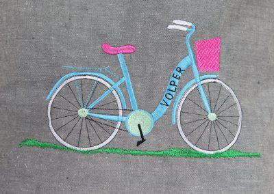 tormy haftowane z logo lniana torba z rowerem haftowria haft komputerowy poznan